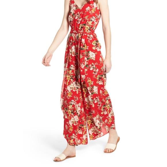 Lush Pants - Lush Floral Jumpsuit